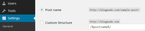 Configuring Post URL's